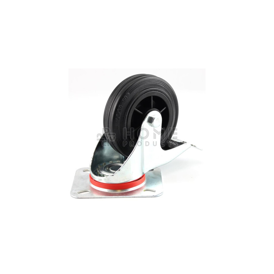 Swivel Castor with Brake Plastic RIM 75 mm