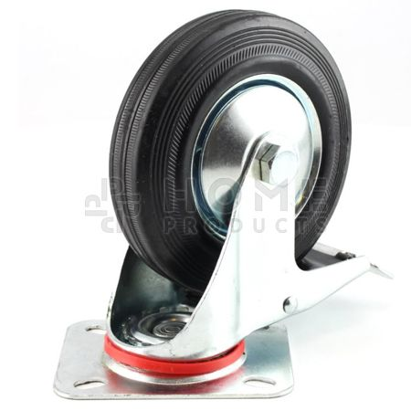 Swivel Castor with Brake Metal RIM 100 mm