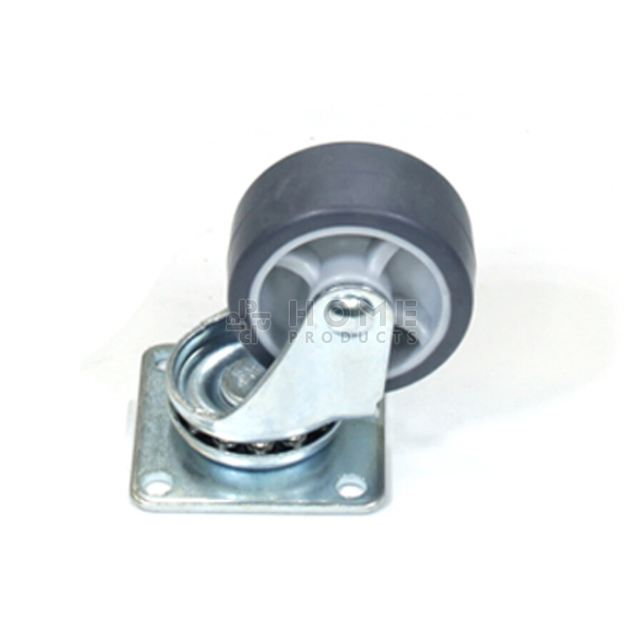 Swivel castor, diameter 40 mm, thermoplastic rubber wheel, load capacity up to 35 kg, plain bearing