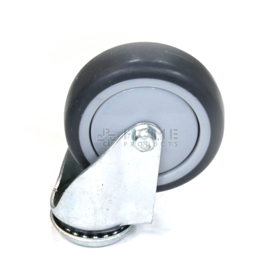 Swivel castor, 75 mm diameter, non-marking thermoplastic rubber tire, load capacity up to 75 kg